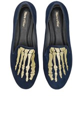 Mara And Mine Jemma Jem Skull Slippers Navy