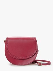 Boden Lingfield Mini Leather Saddle Bag Sunset