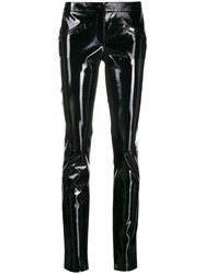 Barbara Bui Patent Skinny Trousers Black