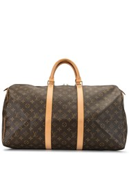 Louis Vuitton 2002 Pre Owned Keepall 50 Travel Bag Brown