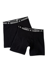 Adidas Athletic Stretch Boxer Brief Pack Of 2 Black