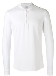 Aspesi Button Up Sweatshirt White