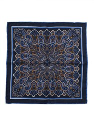 Paul Costelloe French Navy Paisley Pocket Square