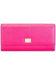 Dolce And Gabbana Dauphine Long Wallet Pink Purple