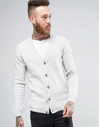 Asos Lambswool Rich Cardigan Light Grey