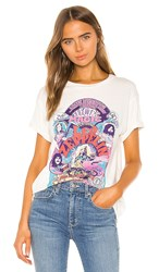 Daydreamer Led Zeppelin Electric Magic Weekend Tee In Ivory. Vintage White