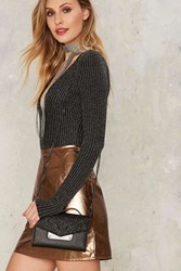 Nasty Gal Out 'N About Vegan Leather Wallet Black Magic