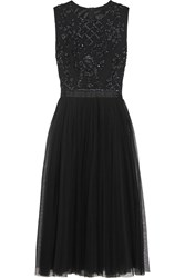 Needle And Thread Embellished Crepe And Tulle Dress