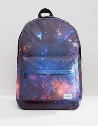 Spiral Galaxy Backpack In Black Black