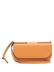 Loewe Gate Pochette Leather Cross Body Bag Tan Multi