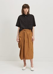 Y's Twill Tuck Down Skirt Brown