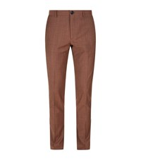 Paul Smith Ps By Slim Fit Wool Mohair Trousers Male Burnt Orange