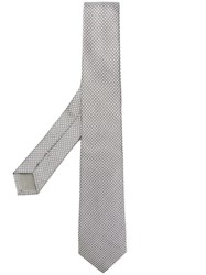 Dell'oglio Micro Patterned Tie Grey