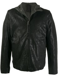 Transit High Neck Zipped Jacket Black