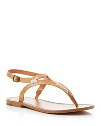 Frye Ruth Whipstitch T Strap Sandals Natural