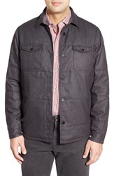 Men's Tommy Bahama 'Sydney' Quilted Shirt Jacket Double Chocolate