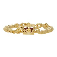 Dolce And Gabbana Gold Crown Chain Bracelet