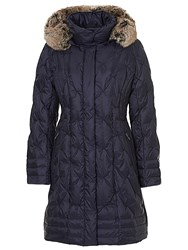 Betty Barclay Duffel Coat With Detachable Hood Night Blue