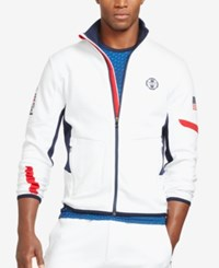 Polo Ralph Lauren Sport Men's Double Knit Track Jacket Pure White