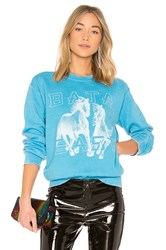 Baja East Horse Sweatshirt Blue