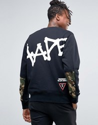 Aape By A Bathing Ape Sweatshirt With Large Logo Black