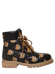 Moschino Teddy Bear Quilted Leather Boots