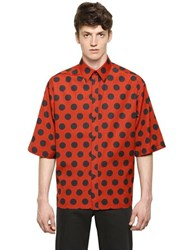 Dolce And Gabbana Polka Dot Printed Cotton Poplin Shirt