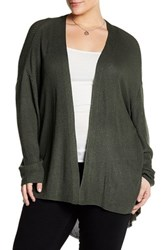 14Th And Union Open Knit Cardigan Plus Size Gray