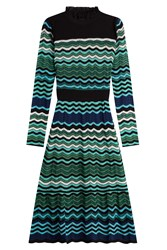 M Missoni High Neck Knit Dress Multicolor