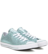Converse Chuck Taylor All Star Stingray Ox Metallic Leather Sneakers Blue
