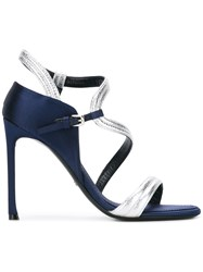 Christian Dior Open Toe Sandals Blue