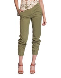Plenty By Tracy Reese Cotton Blend Jogger Pants Green