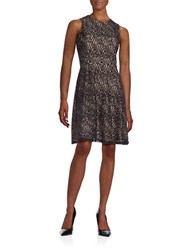 Tommy Hilfiger Sleeveless Lace Fit And Flare Dress Black