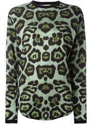 Givenchy Leopard Print T Shirt Green