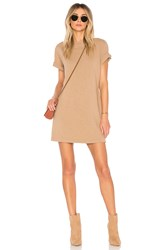 Cotton Citizen Tokyo Short Sleeve Mini Dress Tan