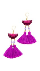 Shashi Camille Earrings Purple