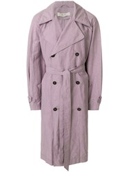 Damir Doma Clay Coat Pink And Purple