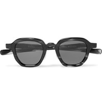 Max Pittion Bronson Square Frame Acetate Sunglasses Black