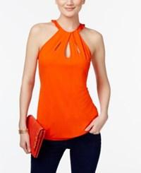 Inc International Concepts Cutout Halter Top Only At Macy's Cosmic Orange