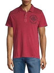 Affliction Royale Cotton Polo Red