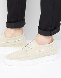 Selected Homme Hightop Boat Shoes Sand Stone