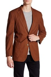Kroon Two Button Notch Lapel Sports Coat Brown