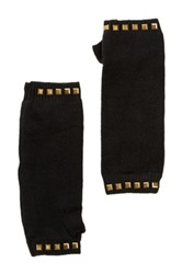 Plush Studded Armwarmers Black