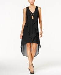 Thalia Sodi Ruffled High Low Shift Dress Only At Macy's Black