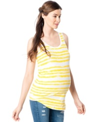 A Pea In The Pod Maternity Striped Scoopneck Tank