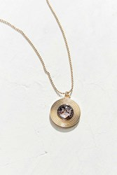 Urban Outfitters Therese Stone Pendant Necklace Gold