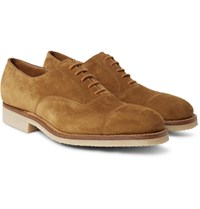 J.M. Weston 300 Suede Oxford Shoes Brown