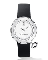 White Gold Charms Watch With Diamonds 32Mm Van Cleef And Arpels White Gold