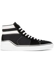 Givenchy Black And White Skate Hi Top Sneakers Cotton Leather Rubber