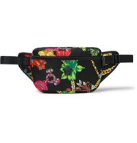 Versace Printed Nylon Belt Bag Black